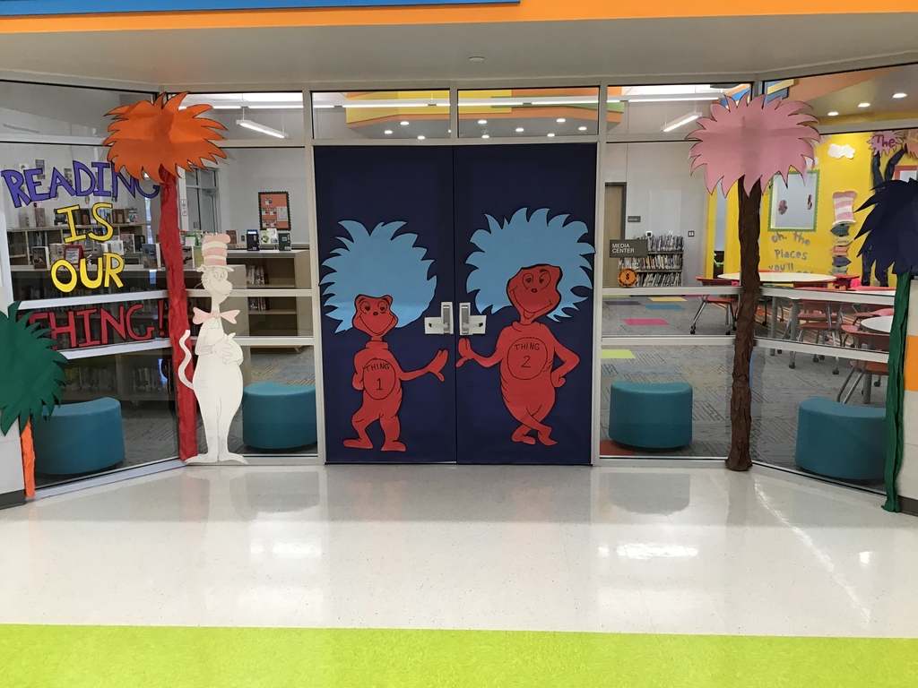 Dr. Seuss week is March 2nd- March 6th.